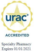 URAC Accredited Specialty Pharmacy. Expires 01/01/2021.