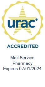 URAC Accredited Mail Service Pharmacy. Expires 07/01/2021.