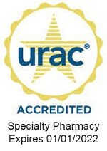 URAC Accredited Specialty Pharmacy. Expires 01/01/2022.