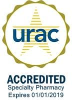 URAC Accredited Specialty Pharmacy. Expires 01/01/2019.