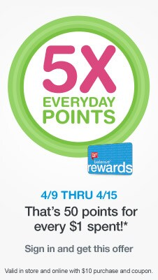 Image result for walgreens 5 times everyday points