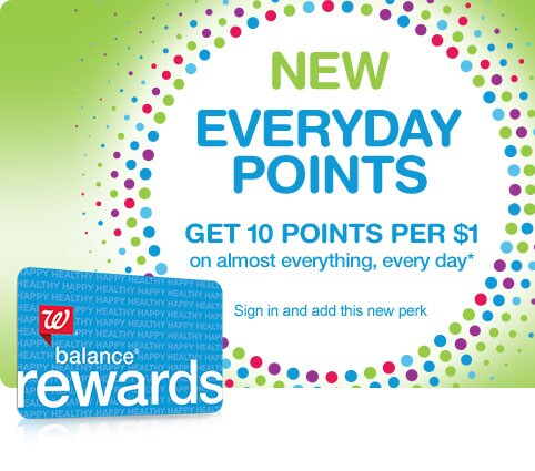 New Everyday Points. Get 10 points per $1 on almost everything, every day.* Balance(R) Rewards. Sign in and add this new perk.
