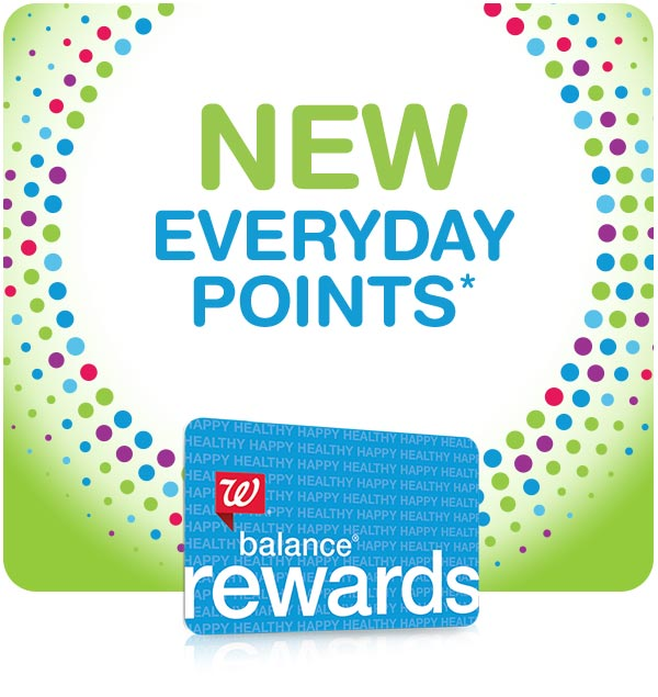 New Everyday Points.* Walgreens Balance Rewards.
