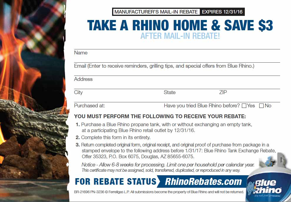 Mail-in rebate form