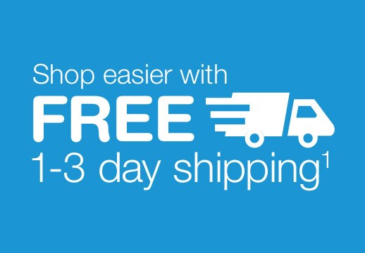 shop easier with free 13 day shipping