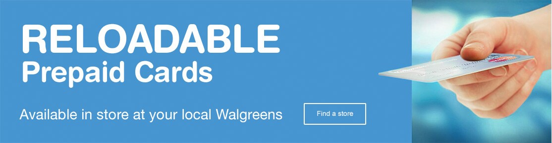 reloadable prepaid cards available in store at your local walgreens find a store - Prepaid Cards With Mobile Deposit