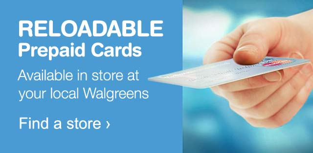 reloadable prepaid cards available in store at your local walgreens find a store - How To Get A Prepaid Visa Card