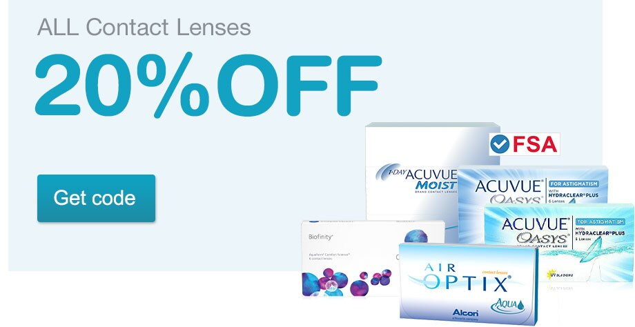 FSA Approved. 20% OFF Contact Lenses. Get code.