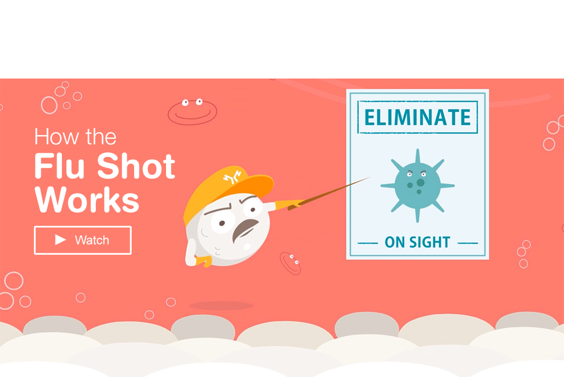 How the flu shot works. Watch a video in a popup window