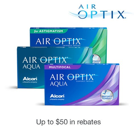 Air Optix. Up to $50 in rebates.