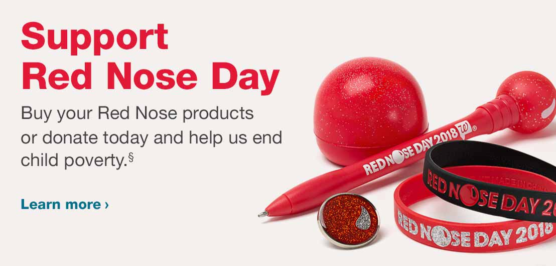 Support Red Nose Day. Buy your Red Nose products or donate today and help us end child poverty.§ Learn more.