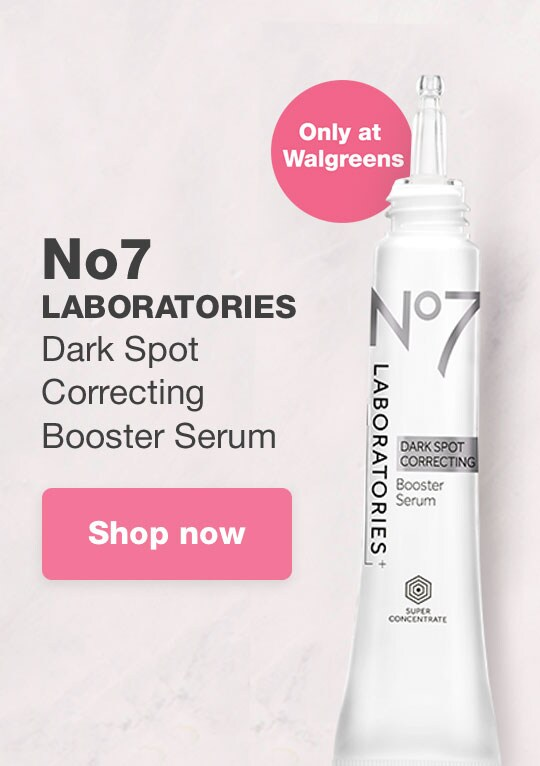 NEW No7 LABORATORIES Dark Spot Correcting Booster Serum. Only at Walgreens. Shop now.