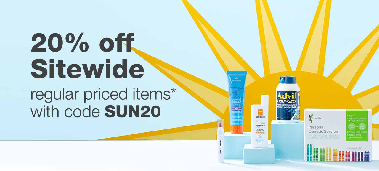 20% off Sitewide regular priced items* with code SUN20.
