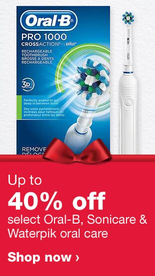 Up to 40% off select Oral-B, Sonicare & Waterpik oral care. Shop now.