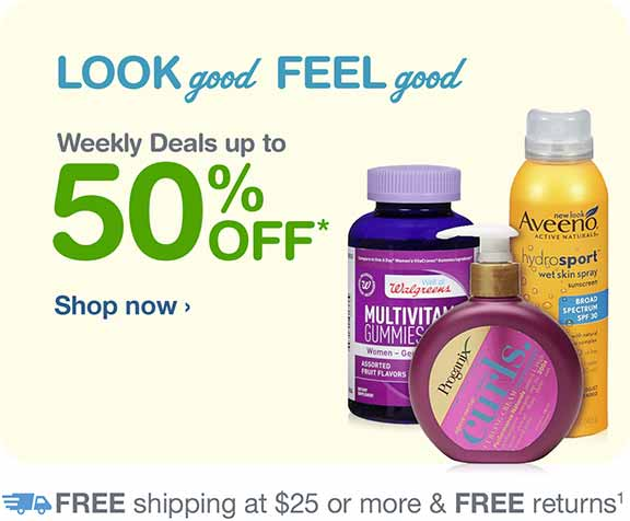 Weekly Deals up to 50% OFF.* FREE Shipping at $25. Shop now.