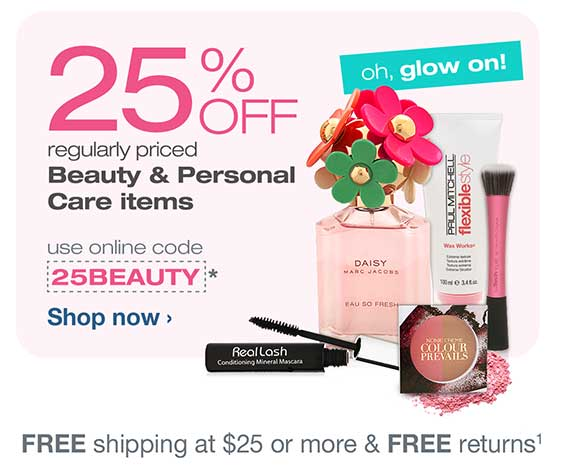 25% OFF reg. priced Beauty & Personal Care items w/code 25BEAUTY.* Free shipping at $25.(1) Shop now.