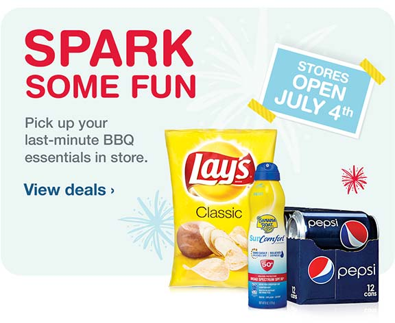 Spark Some Fun. Pick up your last-minute BBQ essentials in store. View deals.
