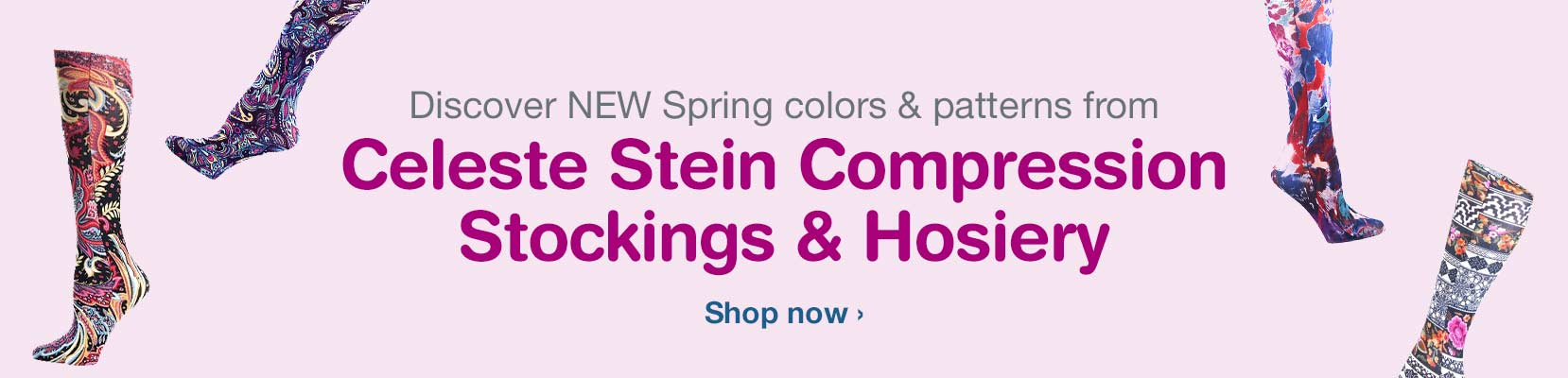 Discover NEW Spring colors & patterns from Celeste Stein Compression Stockings & Hosiery. Shop now.
