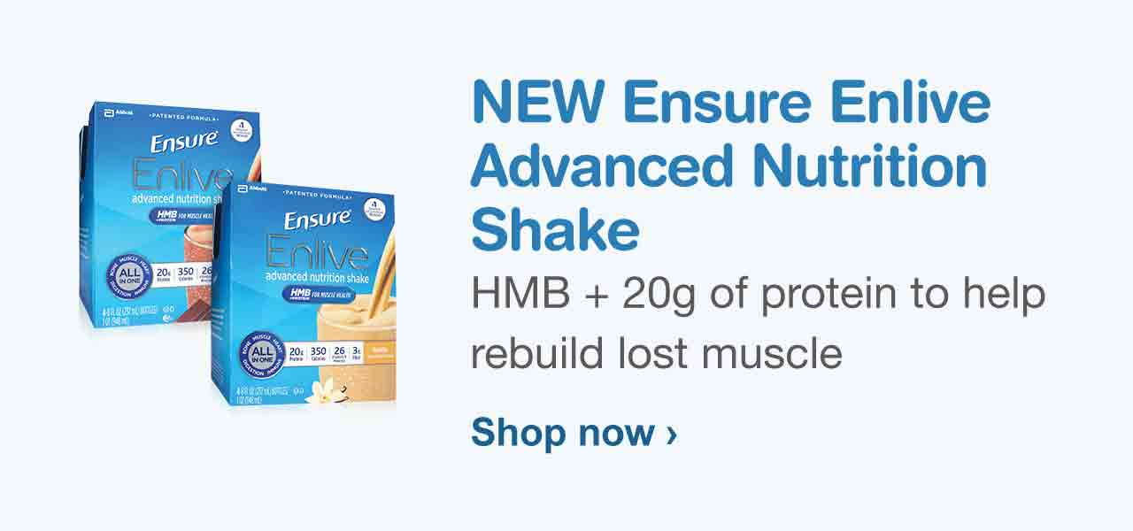 NEW Ensure Enlive Advanced Nutrition Shake. HMB + 20g of protein to help rebuild lost muscle. Shop now.