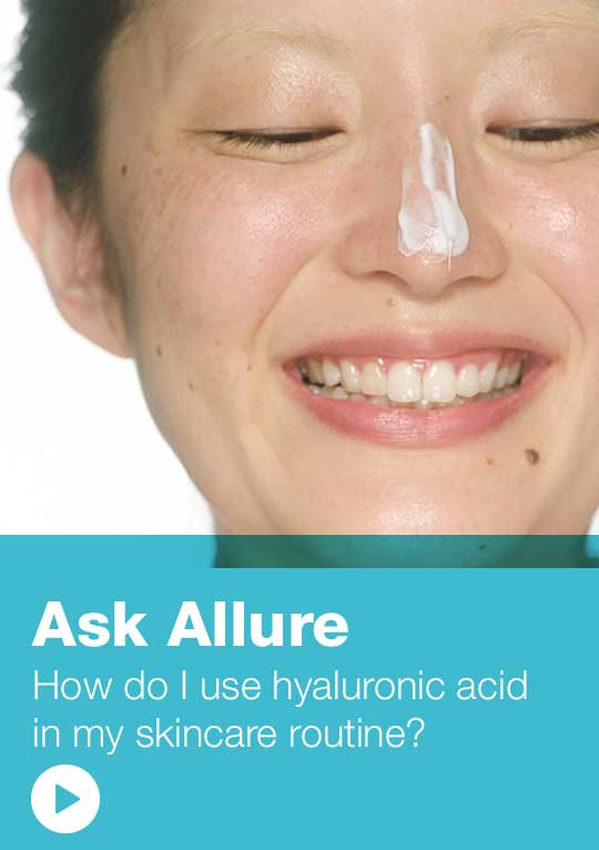 Ask Allure - How do I use hyaluronic acid in my skincare routine? Watch video.