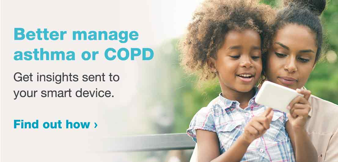 Better manage asthma or COPD. Get insights sent to your device. Find out how.