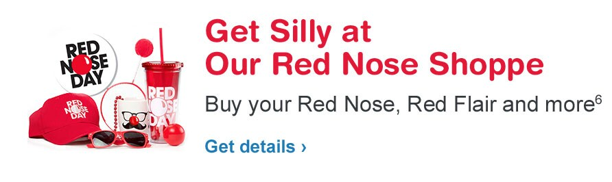 Get Silly at Our Red Nose Shoppe. Buy your Red Nose, Red Flair, and more.(6) Get details.
