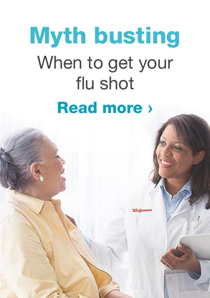 Myth busting. When to get your flu shot. Read more.