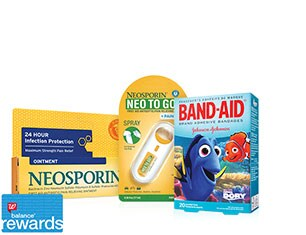 Balance(R) Rewards. First Aid products.