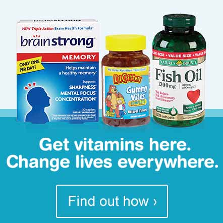 Get vitamins here. Change lives everywhere. Find out how.