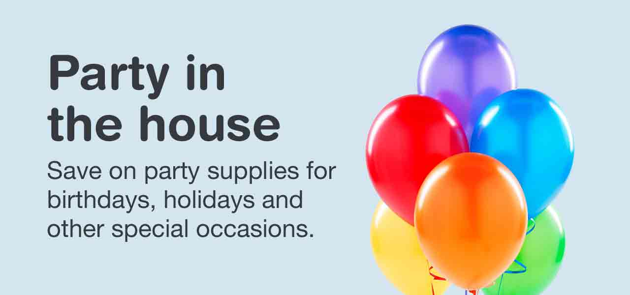 Save On Party Supplies For Birthdays Holidays And Other Special
