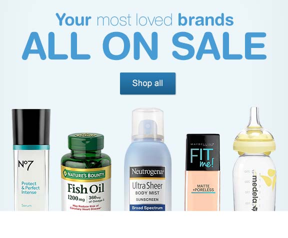 Your most loved brands All On Sale. Shop all.