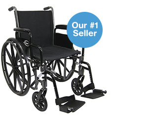 Our #1 Seller. Karman Lightweight Deluxe 18-inch steel Wheelchair