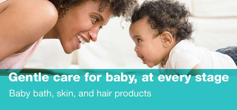 Gentle care for baby, at every stage. Baby bath, skin, and hair products.