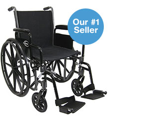 Karman Lightweight Deluxe 18-inch steel Wheelchair