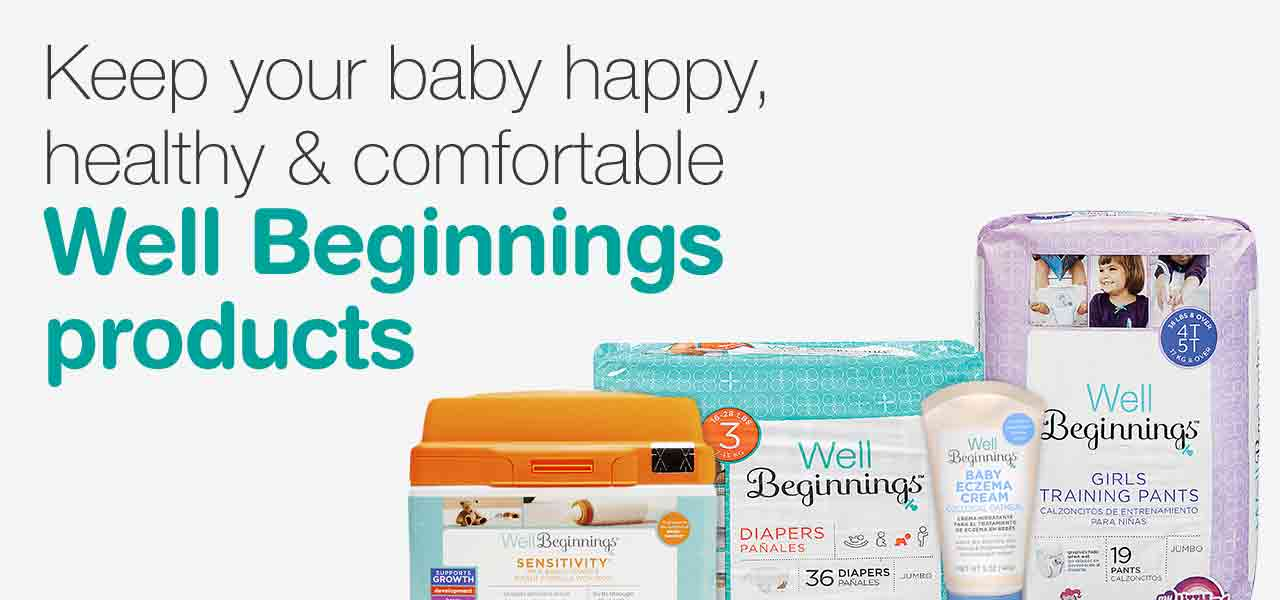 Keep your baby happy, healthy & comfortable. Well Beginnings products.
