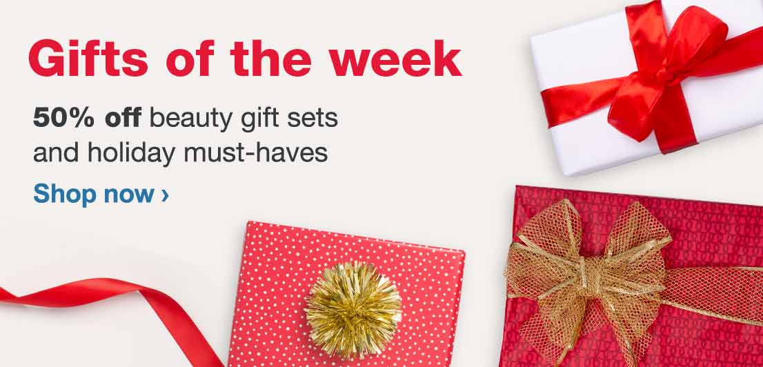 Gifts of the Week. 50% off beauty gift sets and holiday must-haves. Shop now.