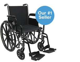 Our #1 Seller Karman Lightweight Deluxe 18-inch steel Wheelchair
