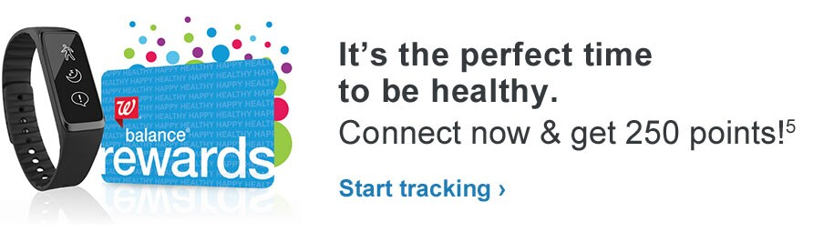 It's the perfect time to be healthy. Connect now & get 250 points!(5) Start tracking.