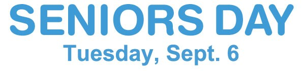 Seniors Day Tuesday, Sept. 6