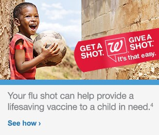 GET A SHOT GIVE A SHOT It's that easy. Your flu shot can help provide a lifesaving vaccine to a child in need.(4). See how.