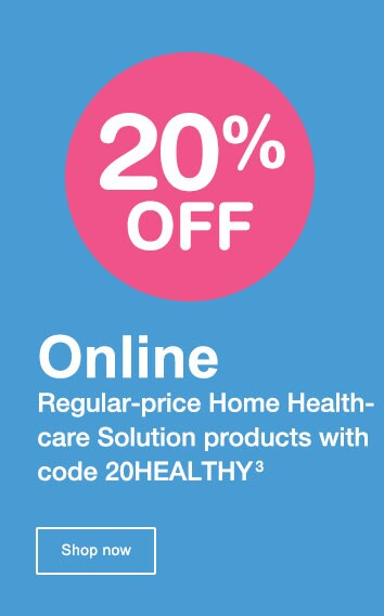 20% OFF Online. Regular-price Home Healthcare Solution products with code 20HEALTHY.(3) Shop now.