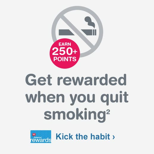 Earn 250+ points. Get rewarded when you quit smoking.(2) Balance(R) Rewards. Kick the habit.