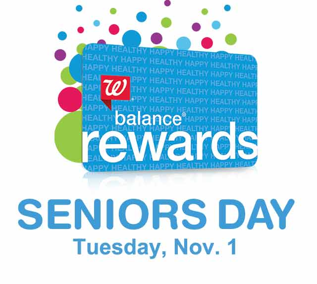 We have a Walgreens Senior Savings Day coming up next week! Tuesday, January 3rd, AARP members and Walgreens Balance Rewards card members 55+ will get a 20% discount .