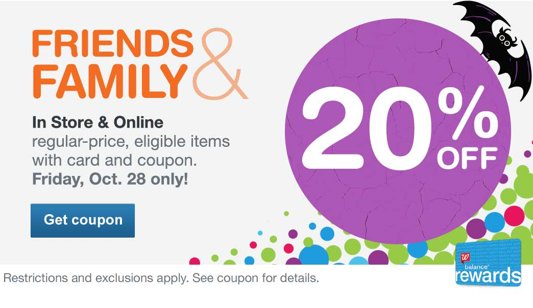 20% OFF In Store & Online regular-price, eligible items with card and coupon. 10/28 only! Restrictions and exclusions apply. See coupon for details. Get coupon.