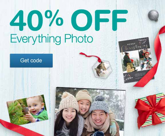 40% OFF Everything Photo. Get code.