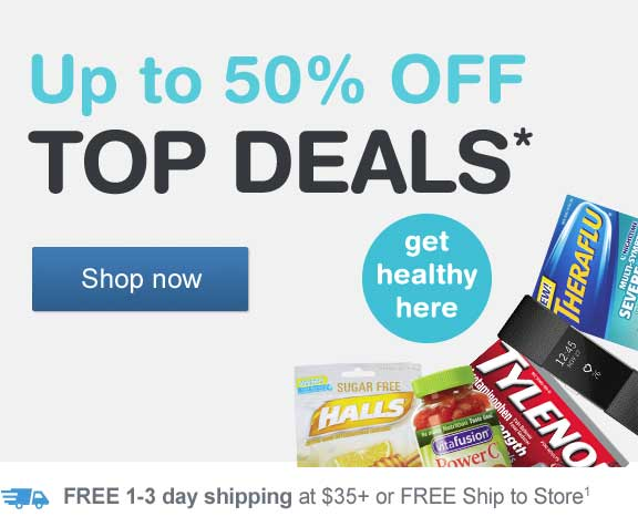 Up to 50% OFF Top Deals.* Get healthy here. FREE shipping at $35+ or FREE Ship to store.(1) Shop now.