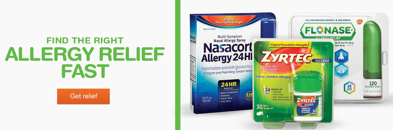 Find the right allergy relief fast. Get relief.