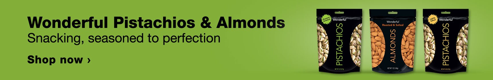 Wonderful Pistachios & Almonds. Shacking, seasoned to perfection. Shop now.