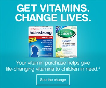 Get vitamins. Change lives. Your vitamin purchase helps give life-changing vitamins to children in need.(4) See the change.