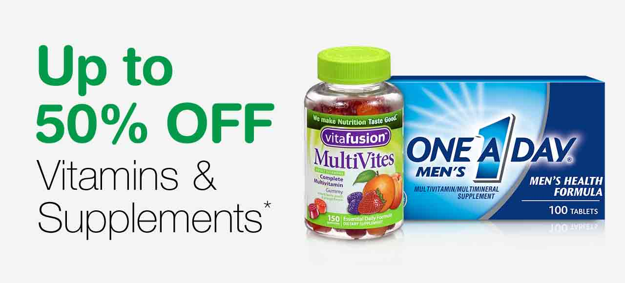 Up to 50% OFF Vitamins & Supplements.*